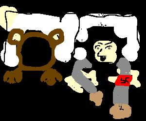 Bear sleeping with Hitler