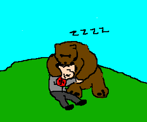 Hitler befriends bear