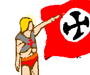 He-man disapproves of communist ideology.