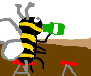 be like a bee drinking beer and making beep