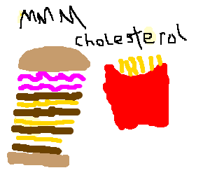 Quad Baconator with a side of large fries