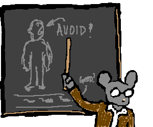 Mouse teaching course on avoiding humans