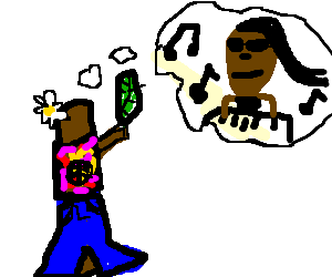A groovy twig thinks about Stevie Wonder