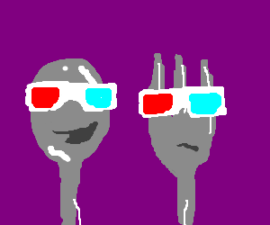 Spoon likes 3D. Fork is disappointed, though.
