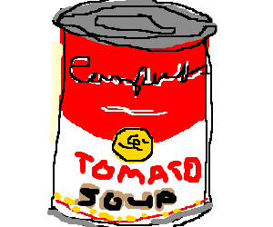 Warhol's Campbell's Soup painting.