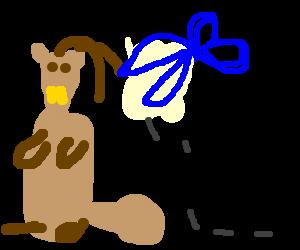 A Beaver having a haircut