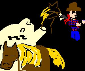 Horse fantasizes about stabbing cowboy master