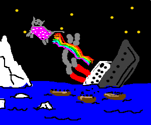 neoncat leving titanic,& everyone in lifeboats