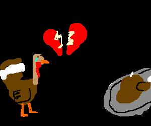 Thanksgiving turkey gets his heart broken