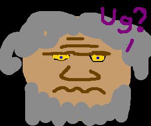 puzzled caveman