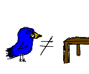 A bird is not the same as a table