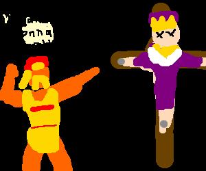 Hulk crucifies a palestinian king