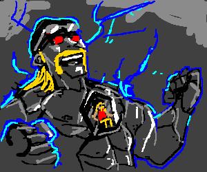 Hulk Hogan in a mecha