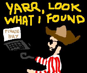 sea pirate discovers internet piracy