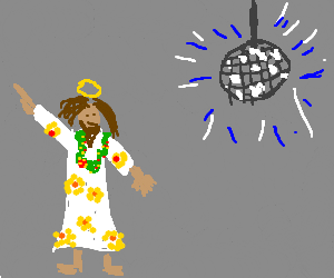 Hippie Jesus loves to party.
