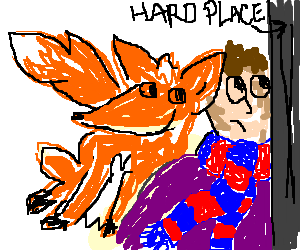 Scarfman is stuck between a fox and a hard place