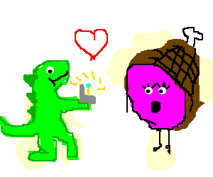 Dinosaur wants ham to take hand in marriage