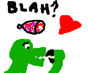 Some words, a heart, raptor, and ham...have fun