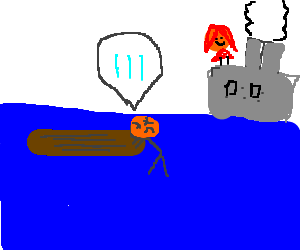 At titanic Drowning guy need help