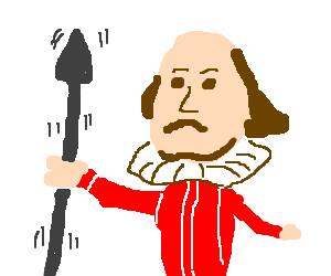 Shakespeare shakes a spear
