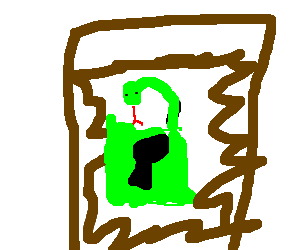 The Snake-lock closes the door