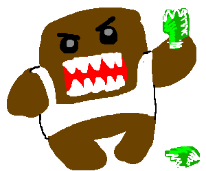 Domokun starting a fight