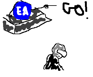 EA games on Dreamcast tells robot to leave
