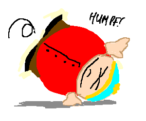 Cartman does a cartwheel