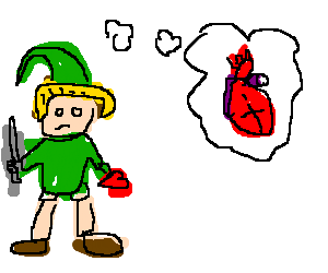 Link wants real hearts.