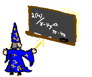 Math Wizard attempts to solve equation
