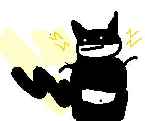 Fat nerd goes to convention as pikachu batman