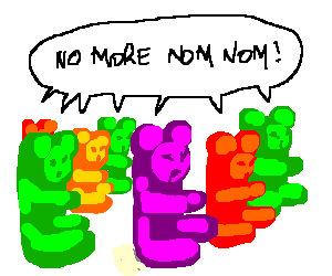 Gummy Bears unite and fight oppression.