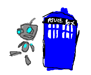 Gir (Invader Zim) is the doctor.Police box/booth