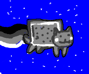 nyan cat lost colour!