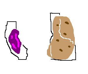 California Raisin vs. Idaho Potato
