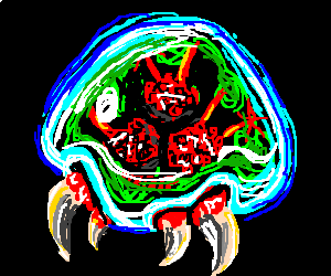 A fearsome metroid!