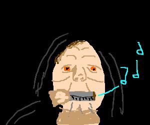 Darth Siddious plays harmonica