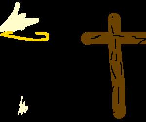 "Rastaman Jesus says ""yeah"" to his friend MrCross"