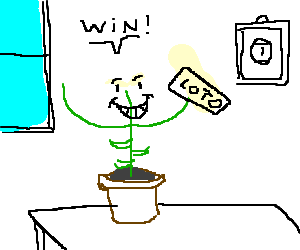 Lucky plant wins the lottery