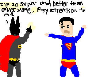 Superman is just not as super w/out cape