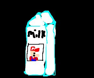 Mario is on the milk carton