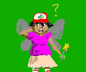 Ash from pokemon is a pink fairy