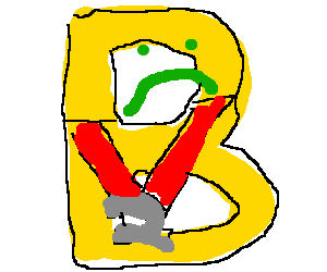 Letter B is sad for his second place