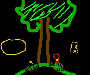 Batman and Robin sitting in a tree