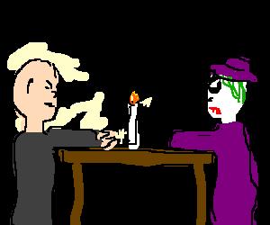 Lex Luthor & The Joker on a hot date.