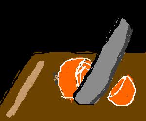 An Orange Onion gets Butchered