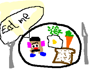 Suicidal Mr. Potato Head wants to be eaten