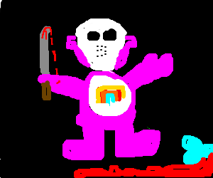 Care Bear possessed by Jason Voorhees