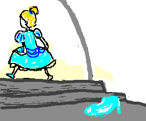 Cinderella Losing Her Slipper