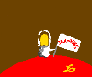 Twinkie spaceman tries to claim Soviet planet